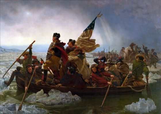 Leutze, Emanuel: Washington Crossing the Delaware. Fine Art Print/Poster (121)